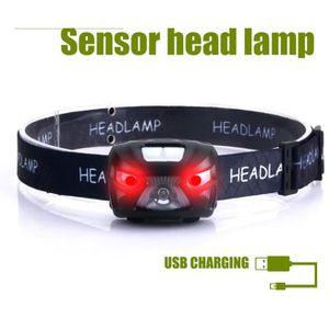 Randonn/ée Apunol Lampe Frontale Led Rechargeable USB Torche Frontale Puissante avec 200LM Cyclisme D/étecteur de Mouvement pour P/êche 8 Modes d/'Eclairage Camping Lecture IPX4 /Étanche