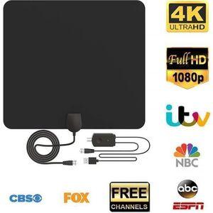 ANTENNE RATEAU Antenne TV Intérieur Puissante, Pictek Antenne TNT