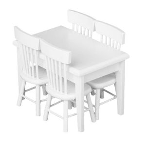 MAISON POUPÉE 5 piece Modele Chaise de Table a Manger Ensemale d