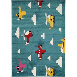 COUVERTURE - PLAID Tapis enfants Noa Sky Traffic Bleu 160x230 cm - Ta