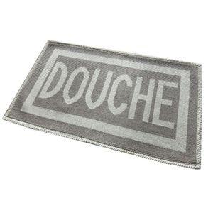 Tapis salle de bain imprimé Douche 50 x 80cm - CaliCosy Gris Clair