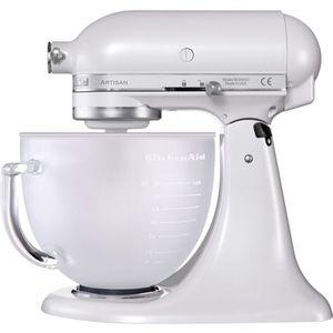 ROBOT DE CUISINE KITCHENAID robot pâtissier artisan 'blanc givré' -
