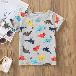 Enfants Nourrisson Enfant Garçons dessin animé DINOSAURE Lettre Imprimer T-shirt Hauts chemises Tee