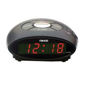 RÉVEIL SANS RADIO Réveil matin sur secteurNIKKEI - NR10 Noir