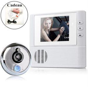 SONNETTE - CARILLON OLALI® Vidéo porte cloche 2.8 pouce Lcd vidéo Port