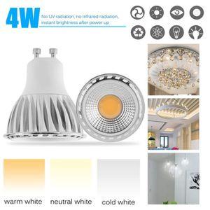 AMPOULE - LED Lot de 4 ampoules spots LED GU10 4W blanc froid 60