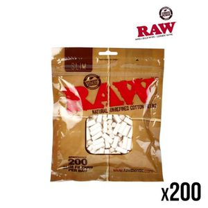 Filtre RAW lot de 10 sachets de 200 Filtres RAW SLIM 6 MM non blanchi