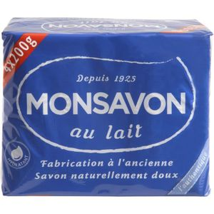 SAVON - SYNDETS MONSAVON Savon Originel - Au lait - Lot de 4 x200