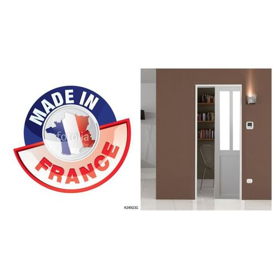 Porte Style Atelier Blanche 73 Coquille Et Tire Doigt Systeme A