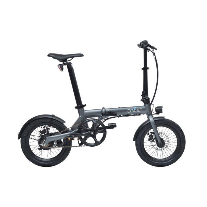 Vélo à assistance électrique City pliant 16- - Gris