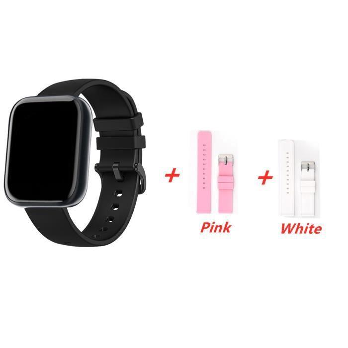 Montre connectée,Mode montre intelligente 2020 femmes hommes électronique Sport montre bracelet pour Android - Type Silica strap #D