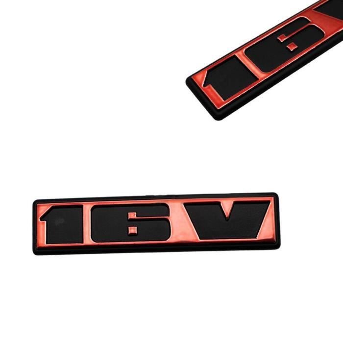 1x Autocollant Emblème Arrière De Voiture ABS Rouge 16V Pour VW Golf Polo Corrado Caddy etc.