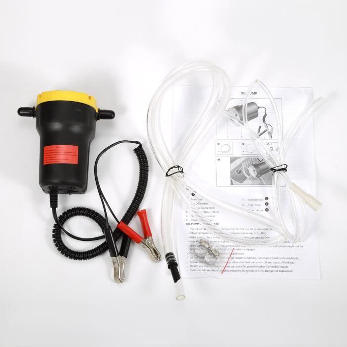 12 V Mini Pompe à Vidange d'Huile Moteur Pompe d'Aspiration Electrique portable Pompe à Gazole à Diesel