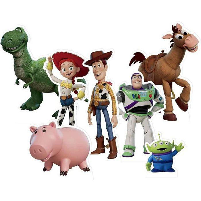 Star Cutouts Toy Story Toppers Lot de 7 décorations pour fêtes, événements, décorations de table de mariage et collectionneurs Com