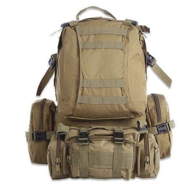 Sac à dos tactique militaire étanche Molle de 50l, sac à dos de sport pour Camping randonnée voyage [19EFE04]