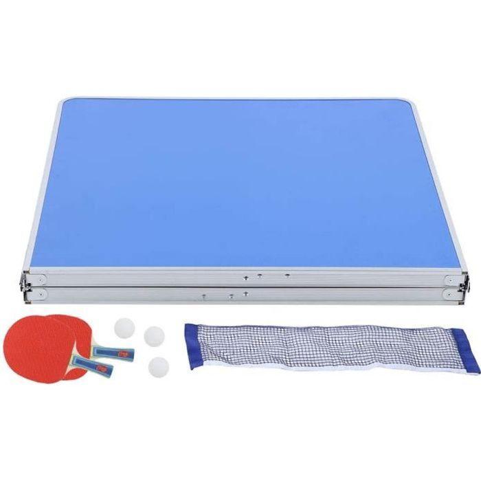 Ladieshow Accessoire de ping-Pong d'int&eacuterieur Durable de Jeu de Tennis de Table avec la Table Pliable de Tennis de Tabl[57]