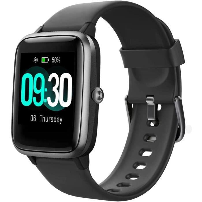 Montre Connectée Femmes Homme Smartwatch Montre Sport Podometre Cardiofrequencemètre ECG Etanche IP68 Natation Running Montre Intell