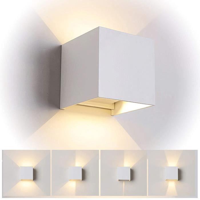 GuO 12W Led Applique murale chambre Moderne Interieur, Aluminium luminaires Réglable Lampe Up and Down Design Blanc Chaud pour