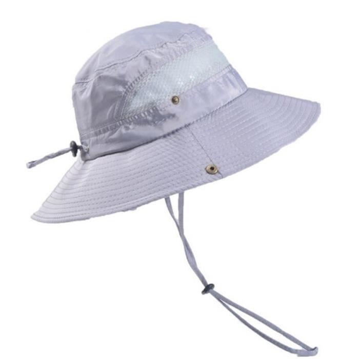 Chapeau de pêcheur pliable et respirant pour hommes, chapeau de soleil décontracté pour randonnée en style 5