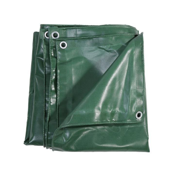 650g/m² bâche PVC, bâche PVC, toile imperméable verte extérieure PVC bâche tente tissu imperméable pour camion 3 x 4 m