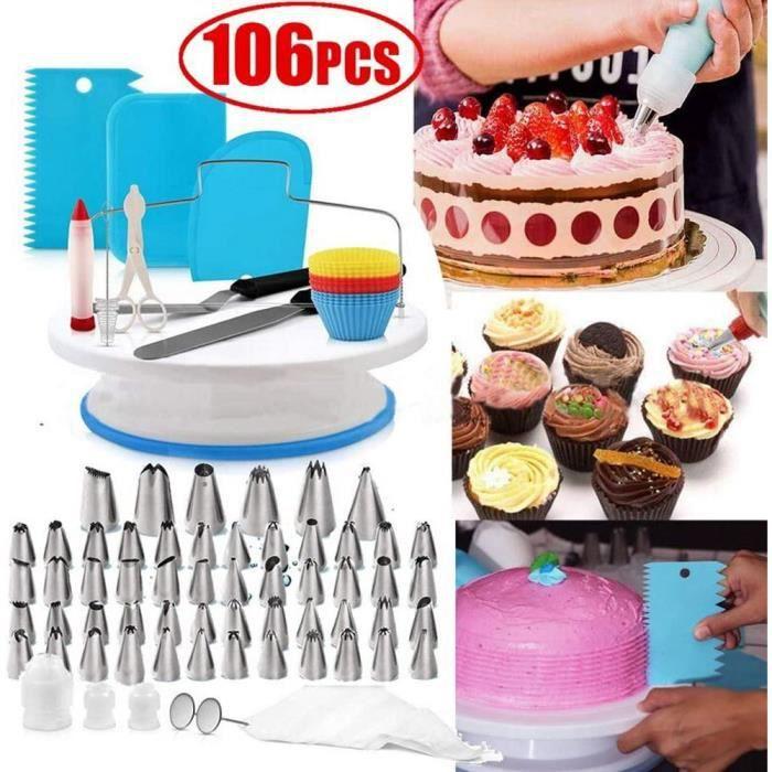 eTakin® 106 Pcs Kit de pâtisserie Poche à douille DIY Ustensiles Kits Décoration pour Glaçage, Déco, Poches, Douilles ect