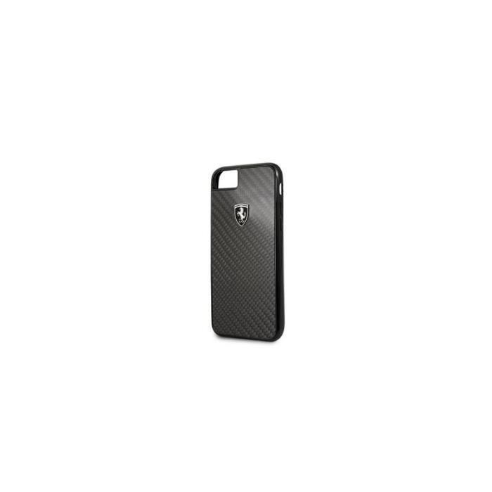 Coque pour Iphone 7-8-SE 2020 Ferrari Heritage carbone noir