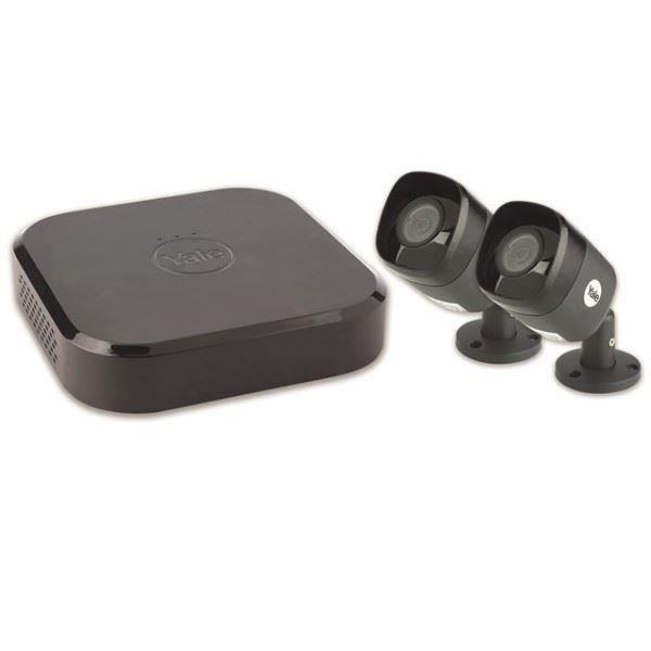 Kit de vidéosurveillance connecté avec 2 caméras filaires + 1 enregistreur DVR - YALE SMART LIVING - - SV4C2ABFX.