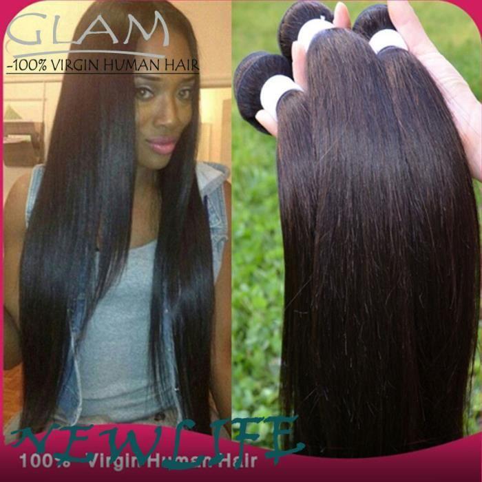 50g 3 tissage bresilienne cheveux vierges brésiliens tissage lisse 12pouces humain natural color
