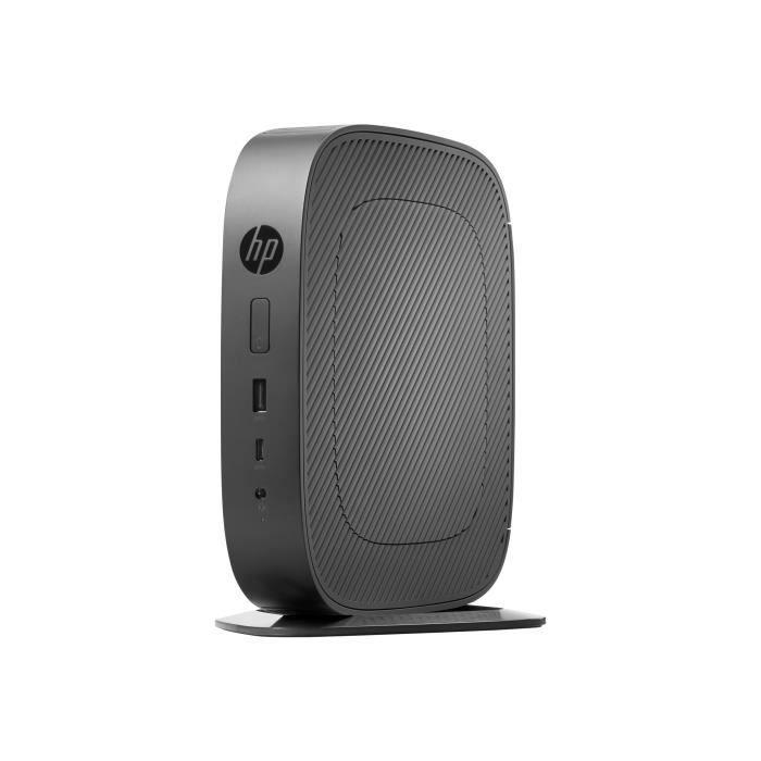 HP t530 Client léger tour 1 x GX-215JJ 1.5 GHz RAM 4 Go flash 32 Go Radeon R2E GigE LAN sans fil: 802.11a-b-g-n-ac, Bluetooth…