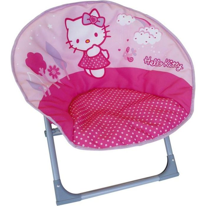 HELLO KITTY fauteuil Lune pliable- Cijep