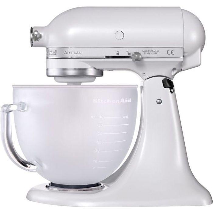 KITCHENAID robot pâtissier artisan 'blanc givré' - 5KSM15…