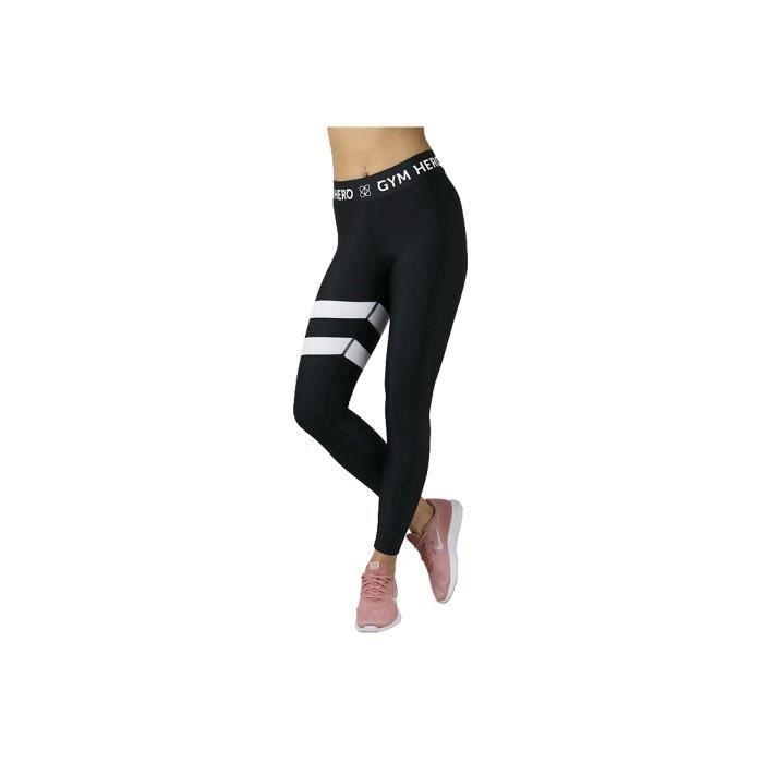 GymHero Leggins WHITESTRIPES leggings pour femmes Noir