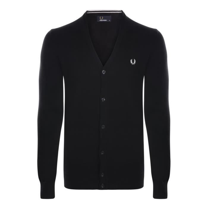 FRED PERRY – Gilet – Cardigan Noir