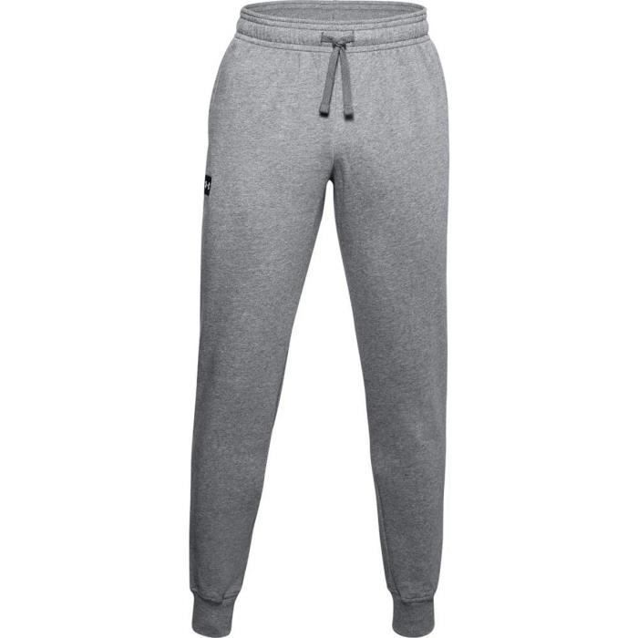Under Armour Pantalon Rival Polaire Jogger Pantalon Survêtement, Homme, Pitch Gris Lumière Heather Onyx Blanc (012), XL
