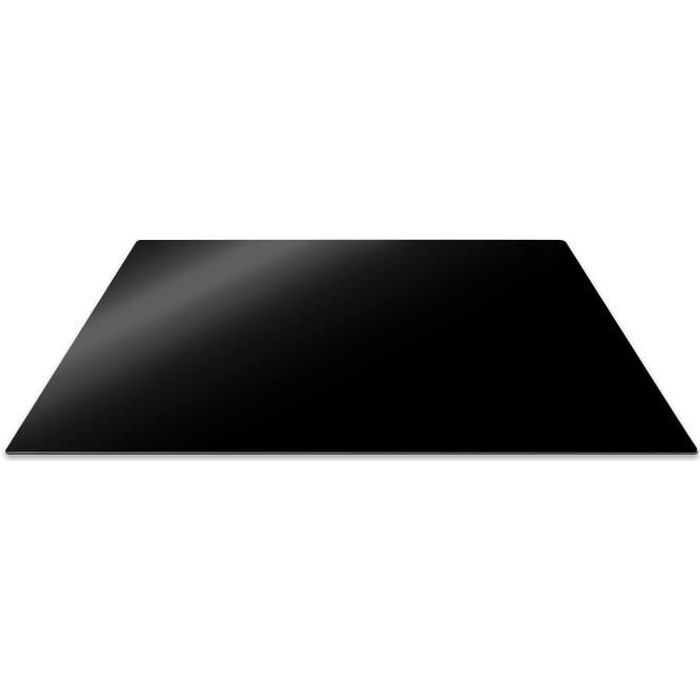 Pebbly 99-14PPBIG Planche de Protection Plaque de Cuisson Verre Trempé Noir 57 x 50 cm
