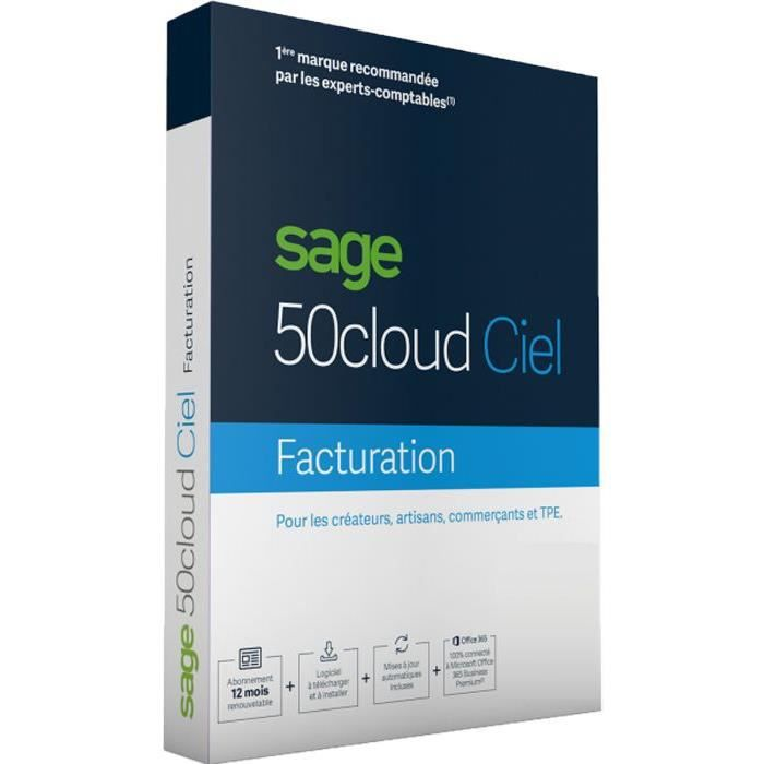 SAGE 50cloud FACTURATION - 1 an d'assistance
