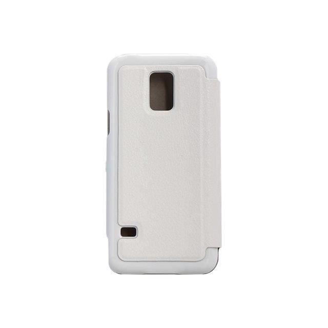 Swiss Charger - Etui Folio en Simili Cuir pour Samsung Galaxy S5 Mini - Blanc
