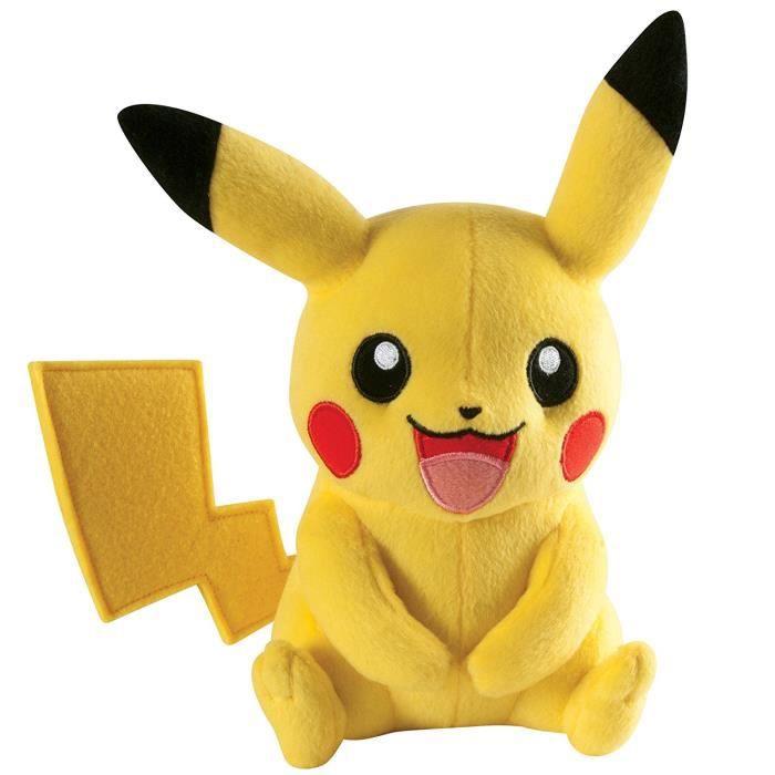 Tomy Pikachu peluche - Pokémon Peluche 20 cm de haute qualité - pour jouer et à collectionner - à partir de 3 ans: Jeux et Jouets