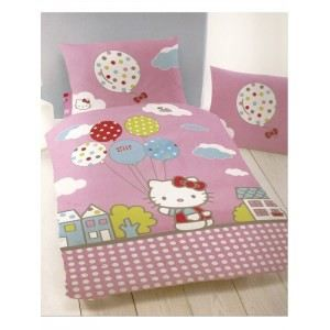 housse de couette hello kitty circus achat vente. Black Bedroom Furniture Sets. Home Design Ideas