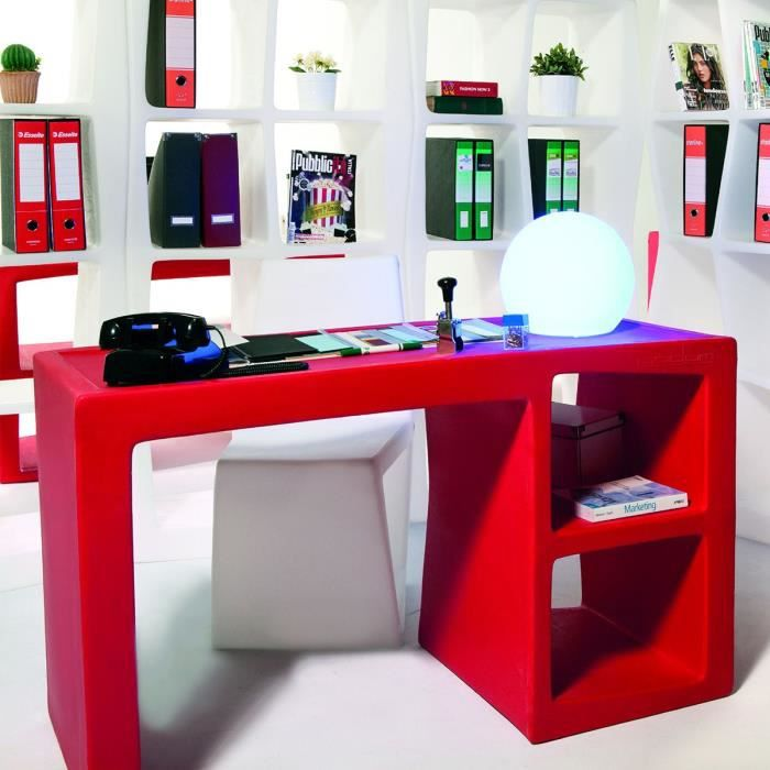 bureau design descas couleur rouge achat vente bureau. Black Bedroom Furniture Sets. Home Design Ideas