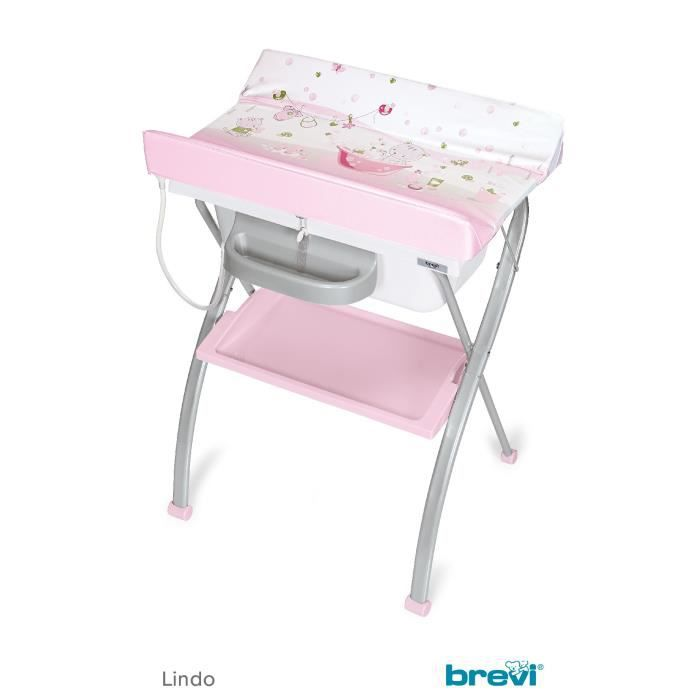 Lindo table langer pliante plouf rose multicolore for Table a langer rose