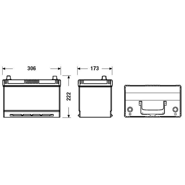 fulmen formula batterie auto fb955 12v 95ah 720a achat vente batterie v hicule fulmen fb955. Black Bedroom Furniture Sets. Home Design Ideas