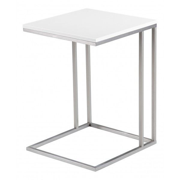 Table d 39 appoint laqu e enora blanc achat vente table for Table d appoint moderne