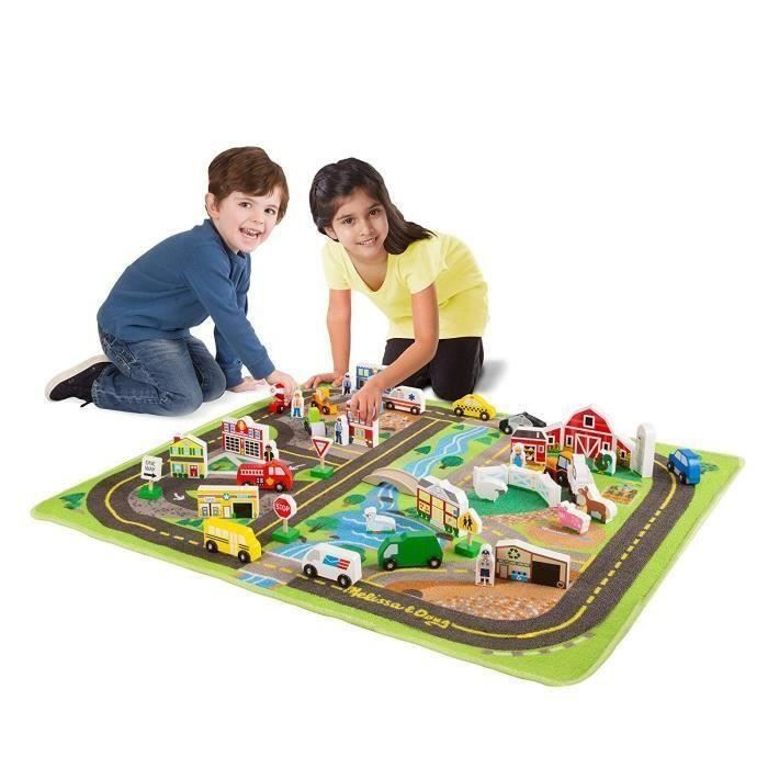 TAPIS DE JEU MELISSA & DOUG Ensemble de jeu avec tapis de luxe