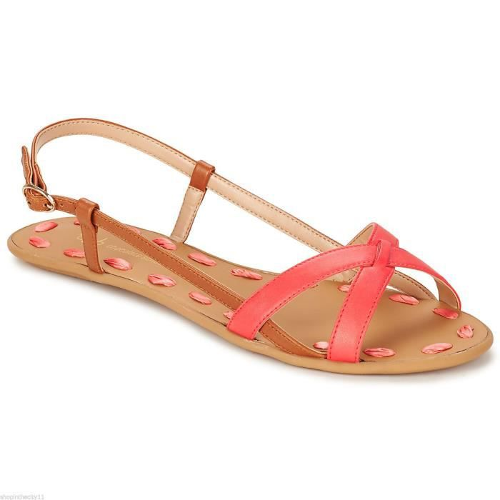 SANDALES CHOCOLATE SCHUBAR MODELE ELLE CORAL
