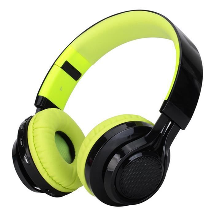 casque bluetooth de st r o sans fil avec fm et. Black Bedroom Furniture Sets. Home Design Ideas