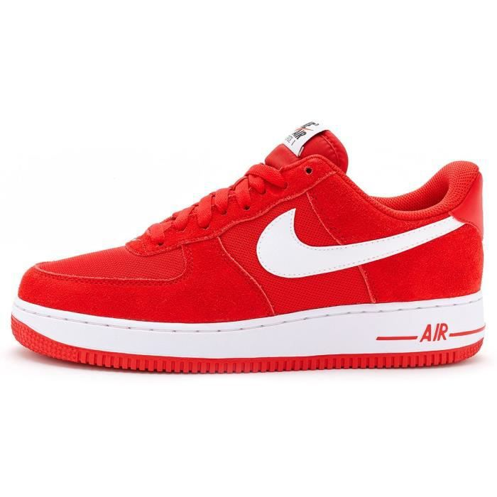 Baskets Nike Air Force 1 Suede Chaussures in Rouge & Blanc