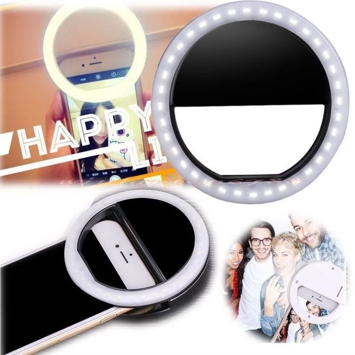 selfie accessoires t l phone flash led lumi re de remplissage achat flash pour telephone pas. Black Bedroom Furniture Sets. Home Design Ideas