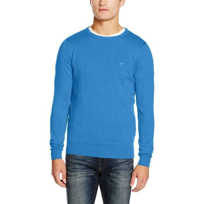 Tom Tailor Basic Crew Neck Sweater Jumper 1x3zd5 Taille 36 Bleu Bleu