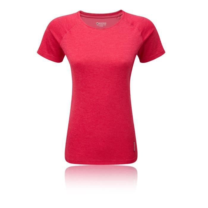 Montane Homme Dart T Shirt Tee Top-sport rouge à l/'Extérieur Respirant Léger